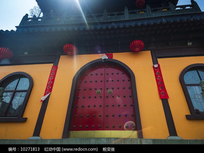 寺庙大门图片