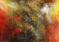 现代风格手绘抽象画