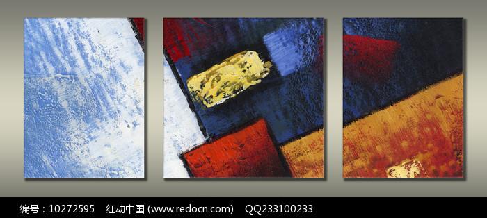现代装饰色块抽象油画图片
