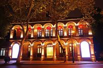 杭州国画院美术馆灯光夜景