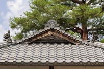 日本京都金阁鹿苑寺琉璃瓦屋顶