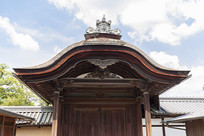 日本京都金阁鹿苑寺木质门框