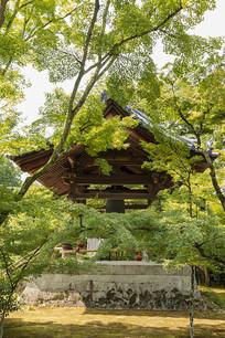 日本京都金阁鹿苑寺钟楼