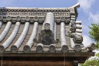 日本京都金阁寺屋顶琉璃瓦特写