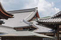 日本京都金阁寺重檐建筑特写