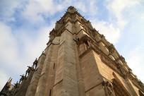 法国巴黎圣母院建筑外观