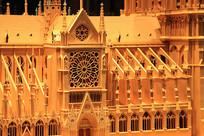 法国巴黎圣母院模型特写