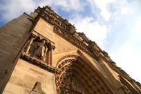 法国巴黎圣母院外景