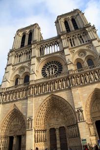法国地标巴黎圣母院