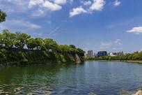日本大阪城北外护城河
