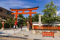 日本京都伏见稻荷大社入口