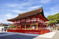日本京都伏见稻荷大社正殿