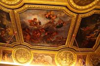 法国巴黎凡尔赛宫建筑顶部