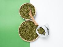 粗粮绿豆图片