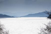 冬季北方湖面