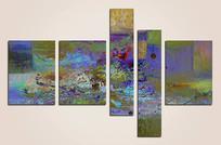 高雅抽象油画无框画