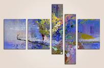 简约现代抽象油画壁画