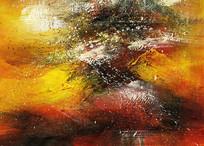 暖色调抽象油画图片