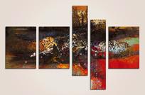 五拼抽象油画