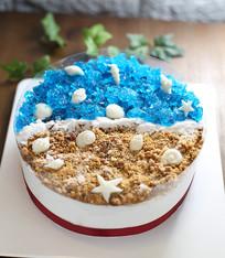 星星海洋生日蛋糕