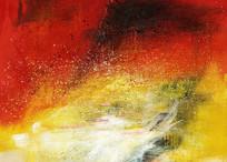 红红火火抽象油画艺术