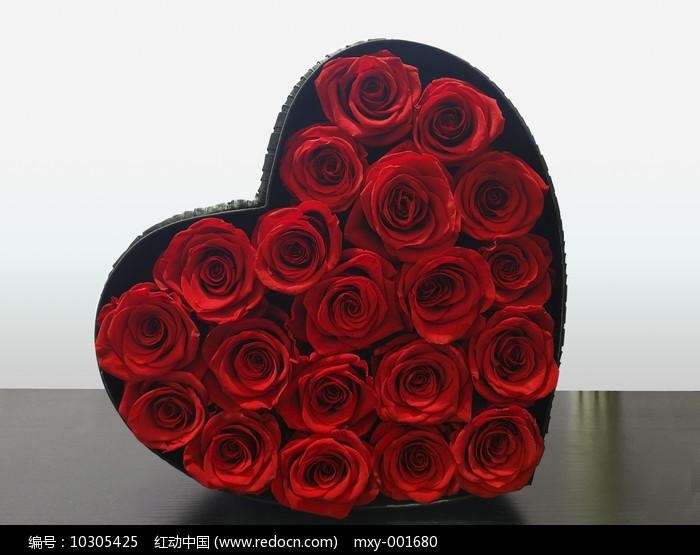 红心玫瑰花图片