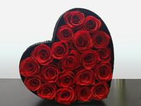 红心玫瑰花