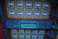 紫禁城宫殿天花白鹤图案