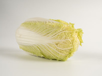 单颗卧姿大白菜蔬菜图片