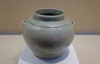 東漢越窯青瓷雙系罐