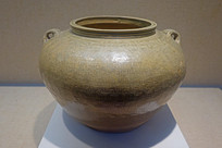 東漢越窯青瓷印紋罐