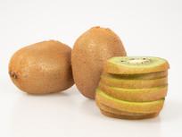 完整和切片猕猴桃水果图片