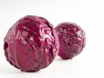 完整紫甘蓝圆形包菜图片