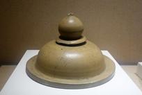 越窯青瓷寶珠頂劃花器蓋