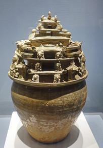 越窑青瓷堆塑罐