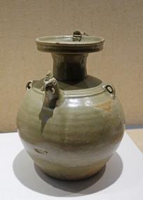 越窯青瓷龍柄雞首壺