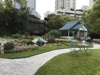 公园凉亭摆设景观