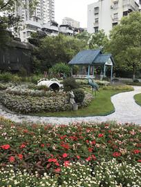 公园凉亭动物摆设景观