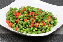 红椒炒青豆