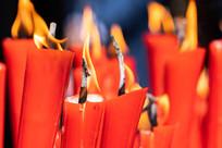 燃烧中的蜡烛