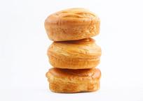 三个叠一起的面包