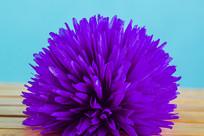 一个紫色的花