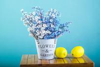 一桶装饰花