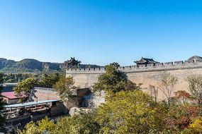 中国山西省王家大院城墙图