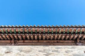 中国山西省王家大院屋檐