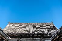 中国山西省王家大院屋檐和天空