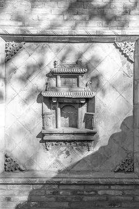 中国山西省王家大院有特色的建筑雕刻