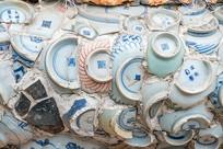 中国天津瓷房子墙壁细节