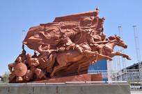 清朝战争雕塑