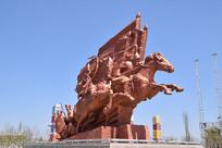战马战争雕塑